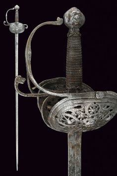 A rapier,    provenance:	 	Europe dating:	 	 second quarter of the 17th Century