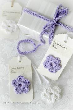 Crochet Gift Tags,Ties