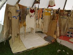 dresses and warshirts in a tipi.... www.redstar-tradingpost.com