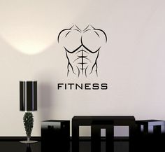 Vinyl Decal Fitness Athletic Body Muscled Bodybuilding Sports Wall Mural ig3364  #Wallstickers4you #VinylArt