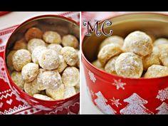 Ekspresowe Ciasteczka Śnieżynki - Maślane ciasteczka obtoczone w puszku z cukru pudru przypominają zimowe śnieżki. Bardzo smaczne, orzechowo – waniliowe... Sweet Desserts, Christmas Desserts, Cereal, Cookies, Breakfast, Sissi, Recipes, Youtube, Diet