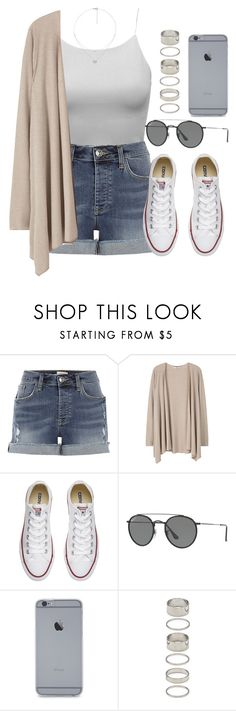 """Sin título #12084"" by vany-alvarado ❤ liked on Polyvore featuring River Island, MANGO, Converse, Ray-Ban, Forever 21 and Folli Follie"