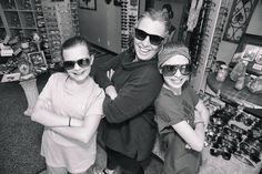 We came to Eyenique for my daughter's first pair of glasses. When we came in, Gina just took the kids by her heart and really got them excited about wearing glasses. Wearing Glasses, Eyeglasses, Round Sunglasses, To My Daughter, Pairs, How To Wear, Fashion, Eyewear, Moda
