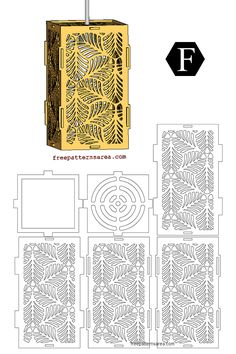 Leafs Laser Cut Wooden Pendant Light Shades Free pdf Drawing