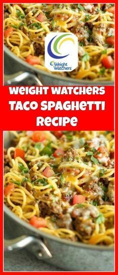 Taco Spaghetti Recipe | weight watchers cooking