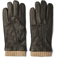 Gant Classic Deerskin Gloves - Black ($142) ❤ liked on Polyvore featuring accessories, gloves, gant, deer leather gloves, deerskin gloves, deerskin leather gloves and deer skin gloves