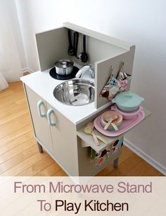 Play Kitchen From Microwave Stand