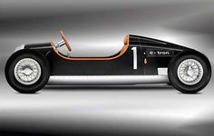 Electric-powered and half-scale recreation of Audi Auto Union Type C, grand prix racer of the late 1930s.