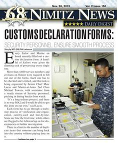 Nimitz News Daily Digest - Nov. 28, 2013