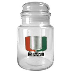 Great American Products Team Logo Candy Jar - Miami Hurricanes