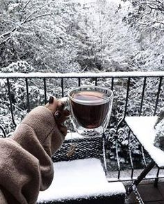 Winter and hot coffee!