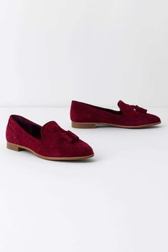 smoking lounge loafer, wine color, anthropologie