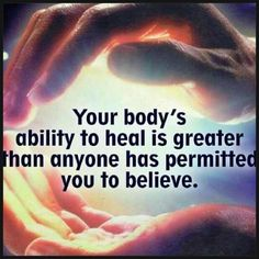 People who run the government don't want us to learn about the things we are actually capable of. but it is your body, your gift.   shine bright as you can!  Your body's ability to #heal is greated than anyone permitted you to believe. #GetAdjusted