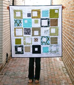 Modern Meadow {x 2!} Baby Boy Quilt by Mary1602, via Flickr
