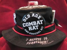 Old Age BIRTHDAY Over the Hill Fishing HAT~ Gag GIFT~Senior Party