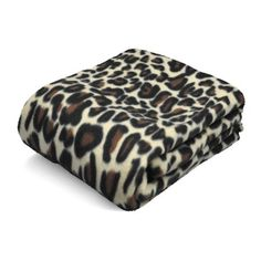 Mainstays Fleece Throw Cheetah