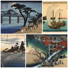 Ando Hiroshige, a ukiyo-e artist creating work in the early 1800's. Similar to the style of Hokusai.
