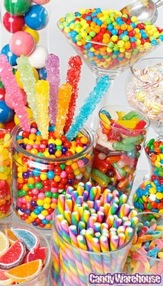 Candy buffet-rainbow