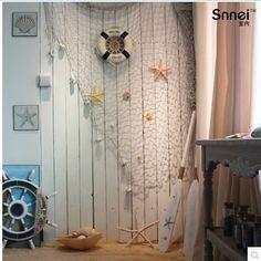 Rede-de-pesca-cortinas-decoração-de-parede-teto-branco-shell-tapeçaria-frete-grátis.jpg (543×543)