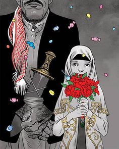 אסף חנוכה . Asaf Hanuka . נישואי קטינות בכפייה . young girls forced into marriage http://www.facebook.com/272454426133682/photos/a.272467856132339.62849.272454426133682/765713083474478