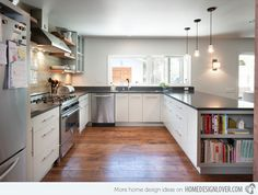 15 Contemporary U-shaped Kitchen Designs | Home Design Lover
