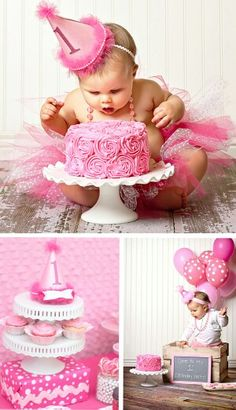Pink 1 yr old bday~ inspiration