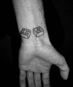 These bricks that are a perfect match. | 32 Lego Tattoos That Will Thrill Your Inner Child