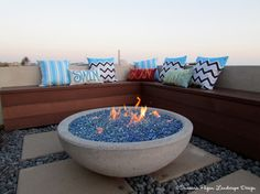 Fire Bowl from the Potted Store LA - modern - landscape - san diego - by SP Gardens - Susanna Pagan Landscape Design Built In Seating, Built In Bench, Landscape Glass, Landscape Design, Outdoor Projects, Garden Projects, Outdoor Ideas, Garden Ideas, Modern Landscaping