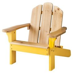 Room Essentials™ Kids Wood Patio Adirondack Chair - Yellow