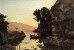 View at Riva, Italian Tyrol - Camille Corot