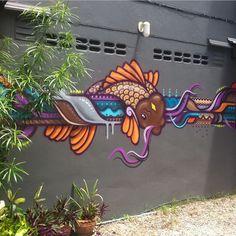 sean duffell Koi at Krabi - Thailand #krabi #roomsatkrabi #streetartthailand #thailandstreetart