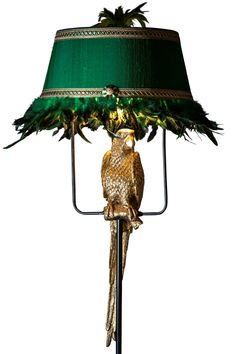 This colourful botanical animal is something different. Completed with a real feathered shade. Luxury Lighting, Cool Lighting, Chandelier Lighting, Tropical Decor, Coastal Decor, Boho Decor, Middle Eastern Decor, Color Explosion, Glamour Decor