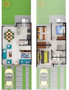Home Sign Floors 42 Ideas For 2019 Narrow House Plans, Small House Floor Plans, Home Design Floor Plans, Duplex House Plans, Dream House Plans, Modern House Plans, Small House Layout, Small House Design, House Layouts