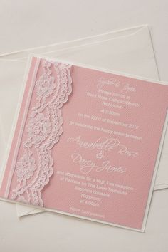 Lace Invitation in different color scheme