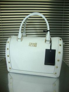 NEW SS2014 $1180 ROBERTO CAVALLI CLASS BOWLING BAG OLIVIA WHITE CBH0032010