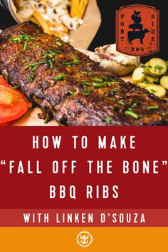 """Craving some good old-fashioned BBQ? We have the perfect """"fall off the bone"""" smoked barbecue ribs recipe, inspired by Port Side BBQ. Enjoy! Gourmet Recipes, Cooking Recipes, Off The Bone, Barbecue Ribs, Tasty Dishes, Puerto Rico, Cravings, Beef, Meals"""