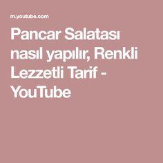 Pancar Salatası nasıl yapılır, Renkli Lezzetli Tarif - YouTube Youtube, Youtubers, Youtube Movies