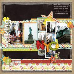 Scrapbook Layout - Travel - New York