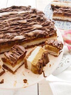 Healthy Mars Bar Cake. Raw, Vegan and Paleo! AKA Magical Mars Bar Cake.
