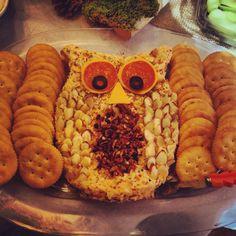 Owl cheese ball