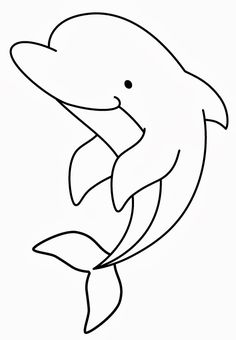 Dolphin- Onesie or burp cloth decorating template Applique Templates, Applique Patterns, Applique Quilts, Applique Designs, Quilt Patterns, Art Drawings For Kids, Drawing For Kids, Easy Drawings, Art For Kids