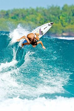malia manuel, she is an amazing surfer! I aspire to be like her.