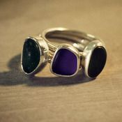 Sea glass stackable ring