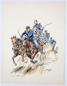 Guerre de Secession Sudiste Eugene Leliepvre. Antietam 1862,
