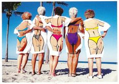 Image result for how to pose on beach old people
