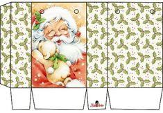 Christmas Gift Box, Noel Christmas, Christmas Paper, Christmas Crafts, Xmas, Christmas Templates, Christmas Printables, Christmas Themes, Christmas Decorations