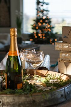 Champagne at Christmas