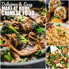 Delicious Easy make at home Chinese food is just when you need when you're craving something delicious and don't feel take out!