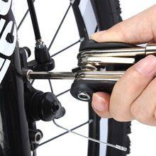 Conjunto de herramientas de alta calidad de la bici carretera MTB mountain bike 16 en 1 multitool multi tool kit de herramientas de la bicicleta de ciclo de ciclo de reparación de herramientas conjunto(China)
