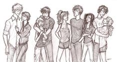 for Gabbing-star Peeta and Katniss, Tris and Fourbias, Brenda Thomas and Teresa, Percy and Annabeth. I am in love with this drawing lol